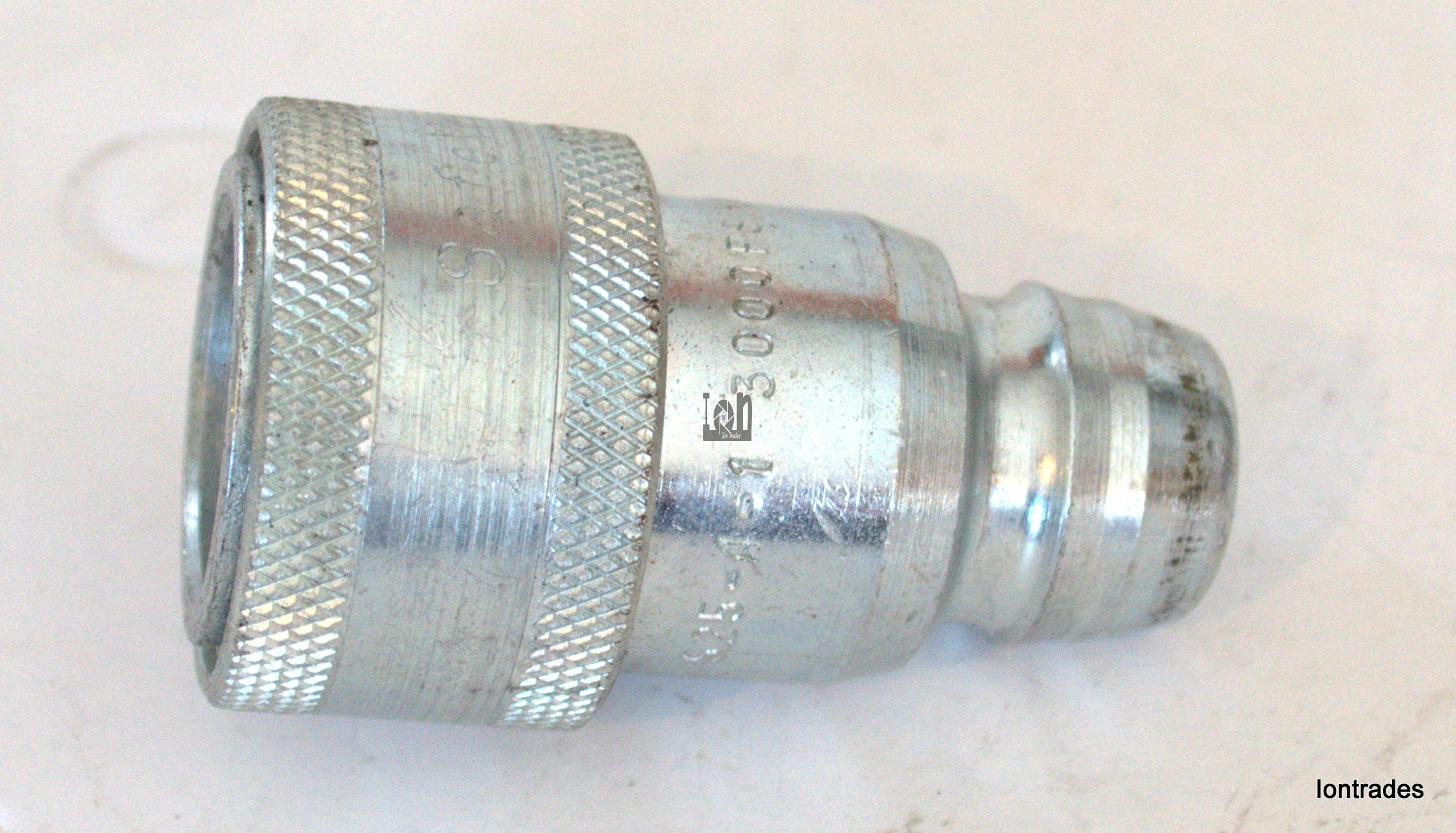 Safeway Hydraulic Hose Coupler Adapter S25-4-1 Quick Change to ISO Male