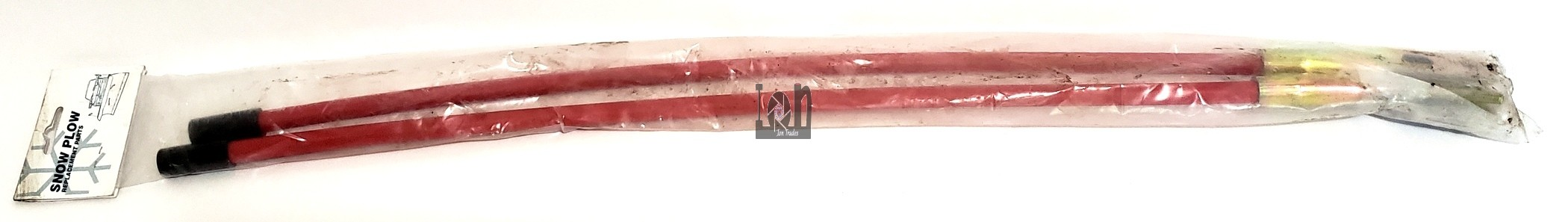 """Snowplow Replacement Blade Guides RED Pair 26"""" Parts W59700H"""