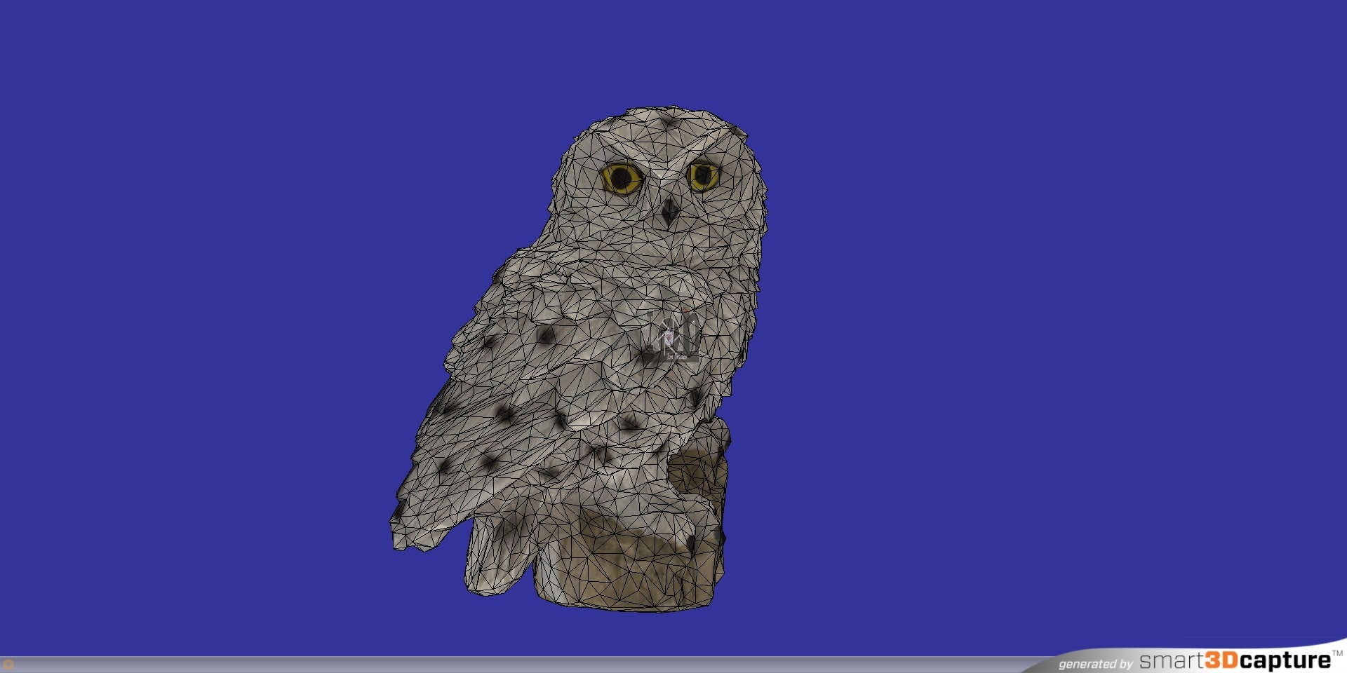 3Dscanned Snowy Owl Figurine