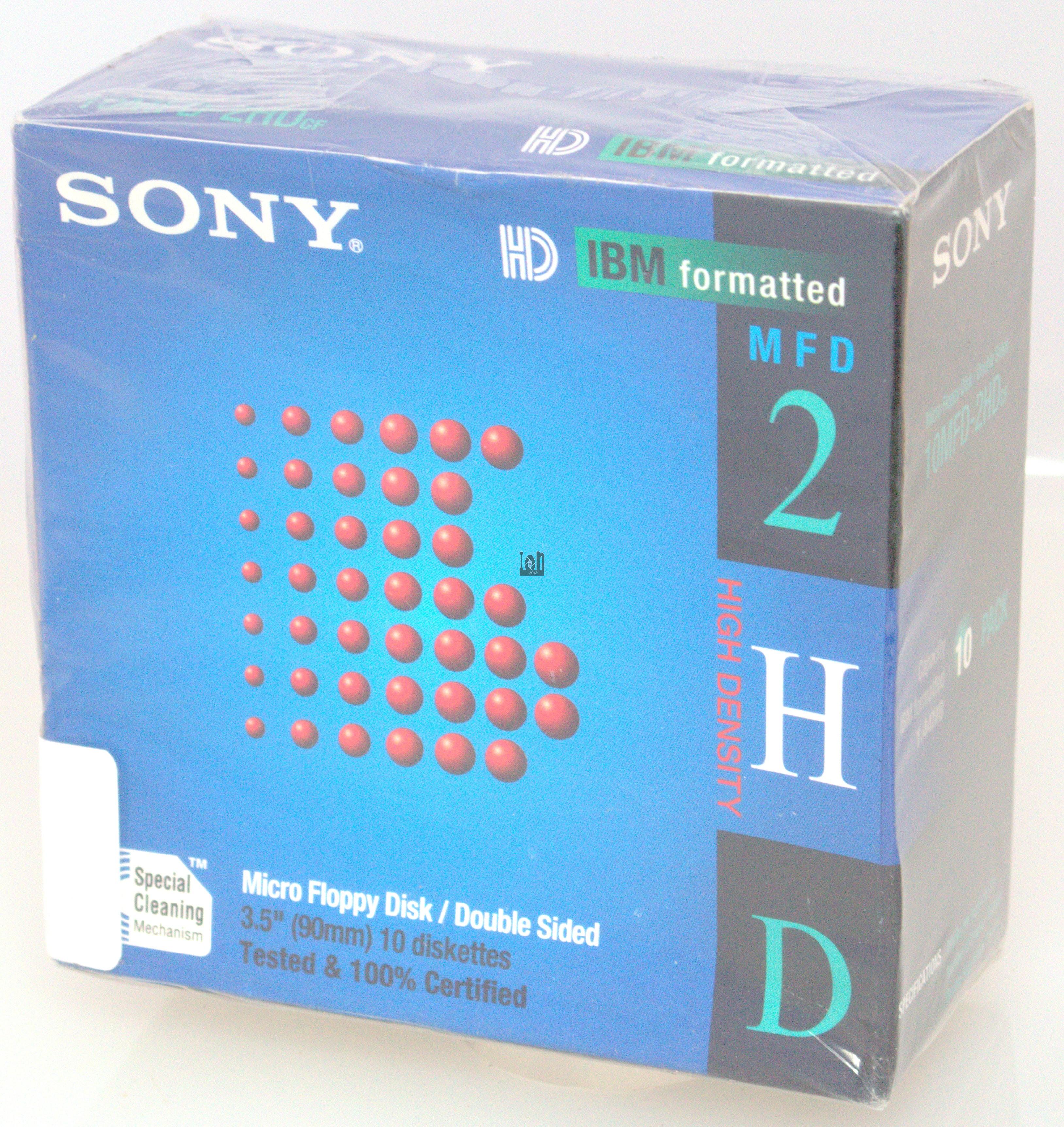 "Sony 10pack Micro Floppy Discs Double Sided 10MFD-2HDcf 3.5"""