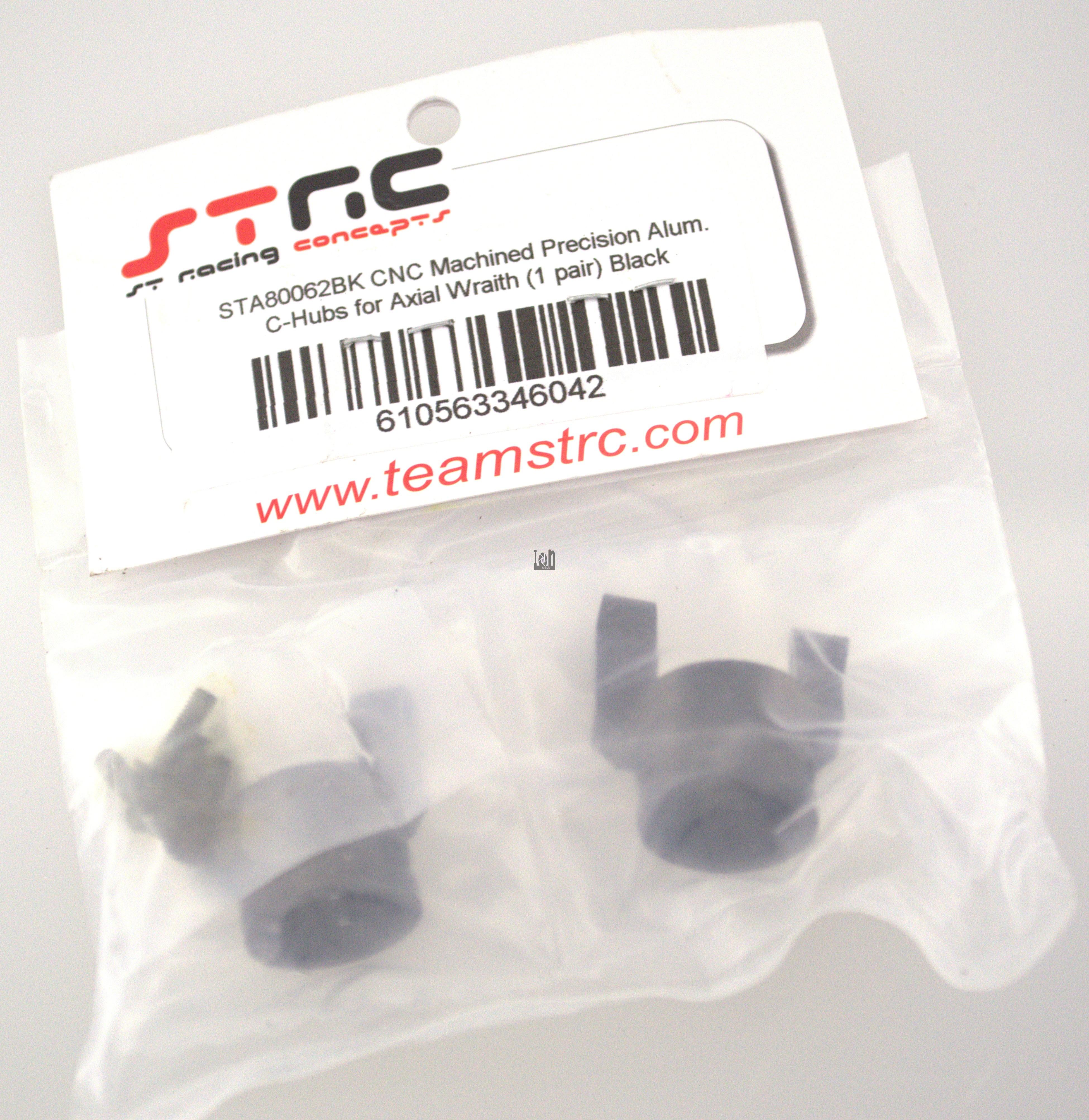 STA800621BK ST Racing CNC  Aluminum RC C-Hub Axial Wrath Parts