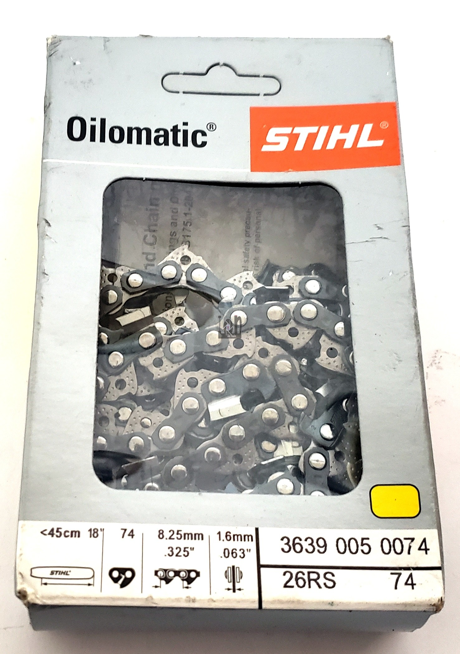 "Stihl 26RS 74 18"" Chainsaw Chain Oilomatic 74 .325 .063"