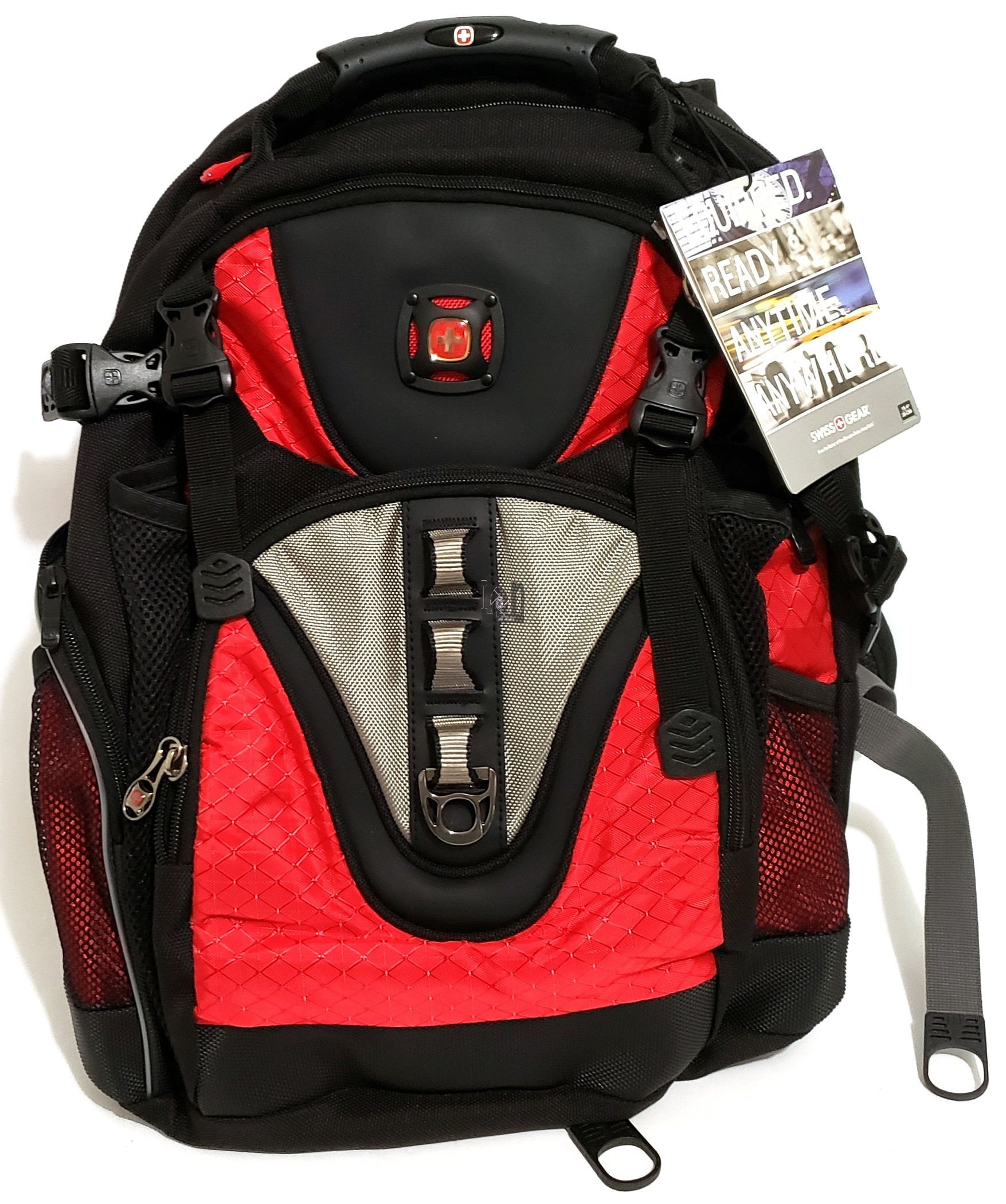 Swissgear Maxxum Backpack Red Laptop Back Pack Bag