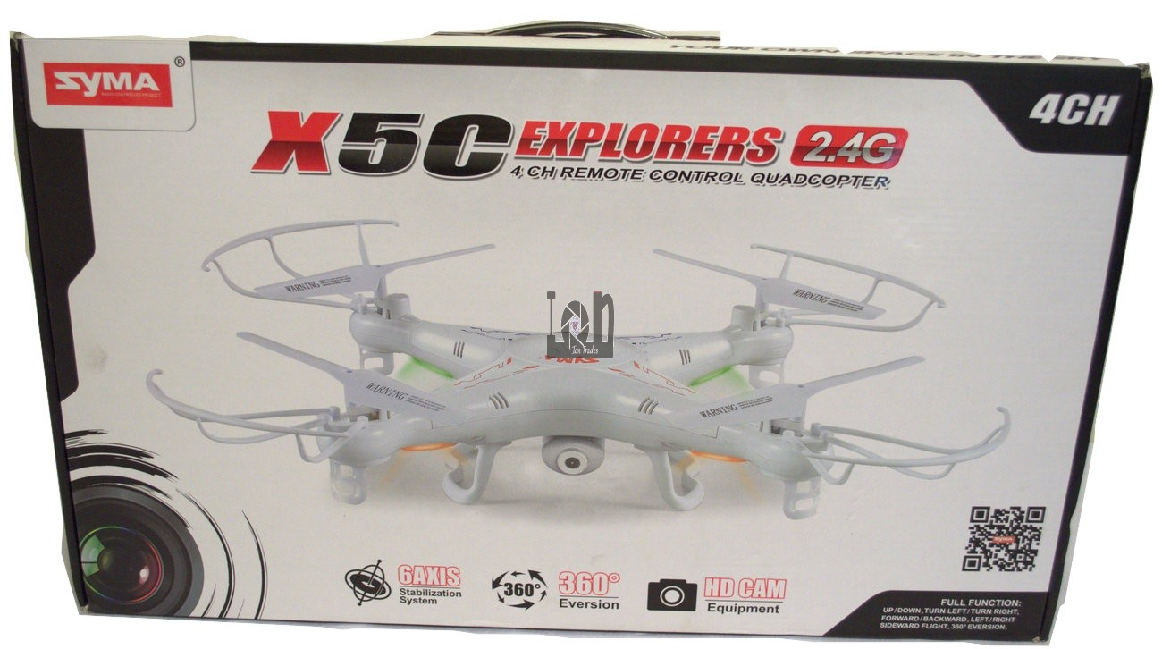 Syma X5C 4 Channel 2.4GHz RC Explorers Quadcopter Drone w HD Camera