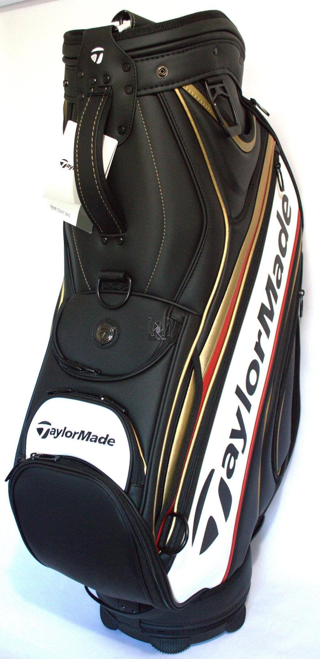 Taylormade Tour Staff Bag 2016 Black White Gold Red Golf Club Bag