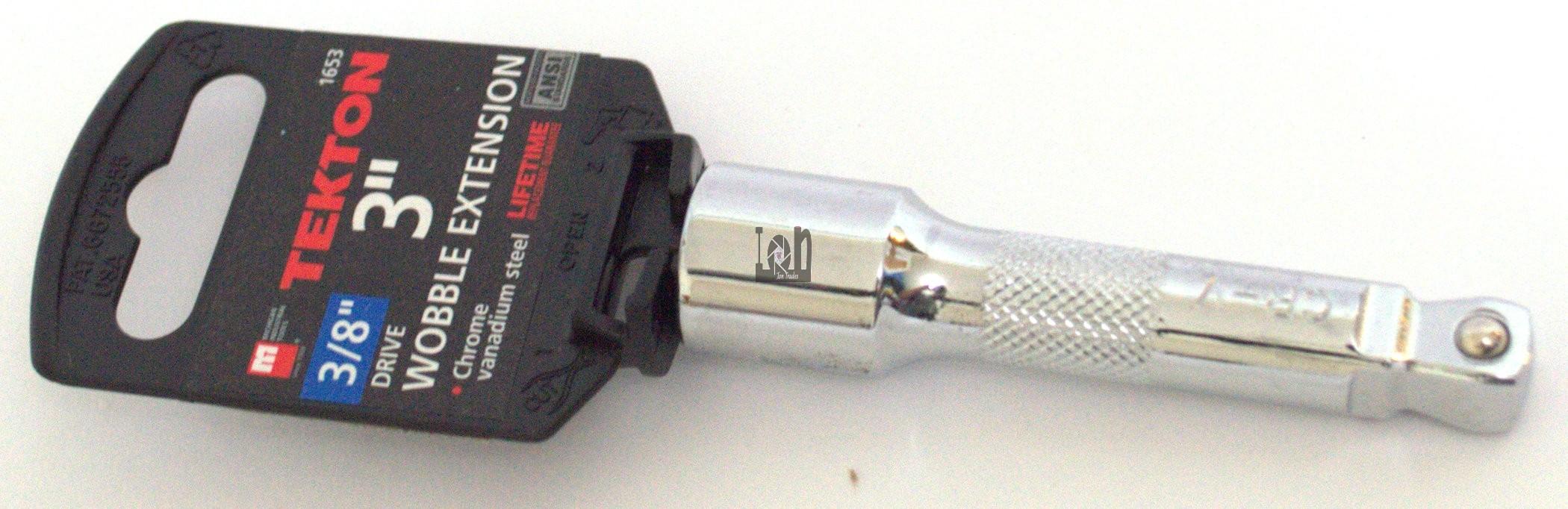 TEKTON 1653 3/8-Inch Drive Extension 3-inch Wobble Drive Cr-V