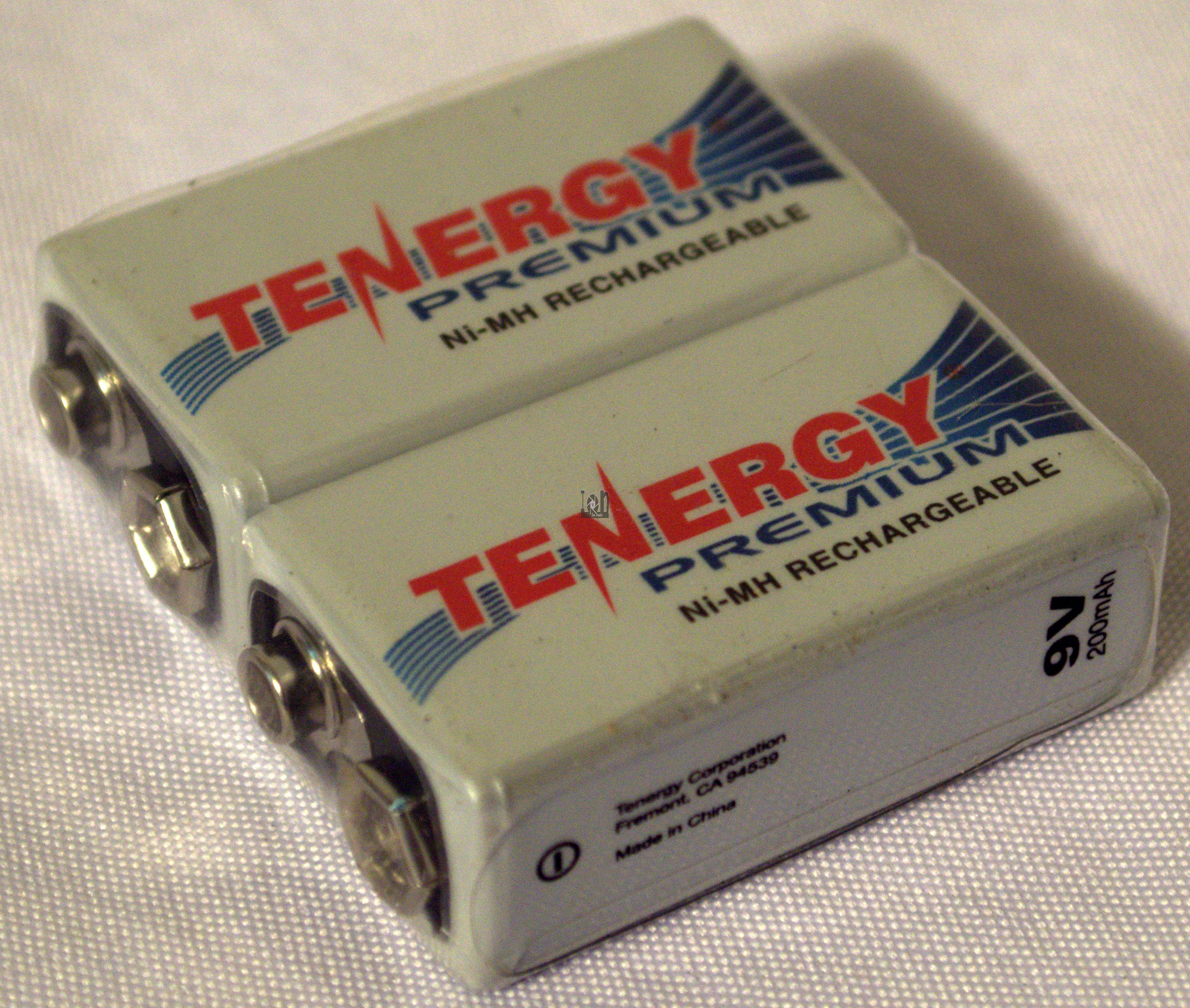 Tenergy Premium 9V Rechargeable Battery 2000mAh Ni-MH