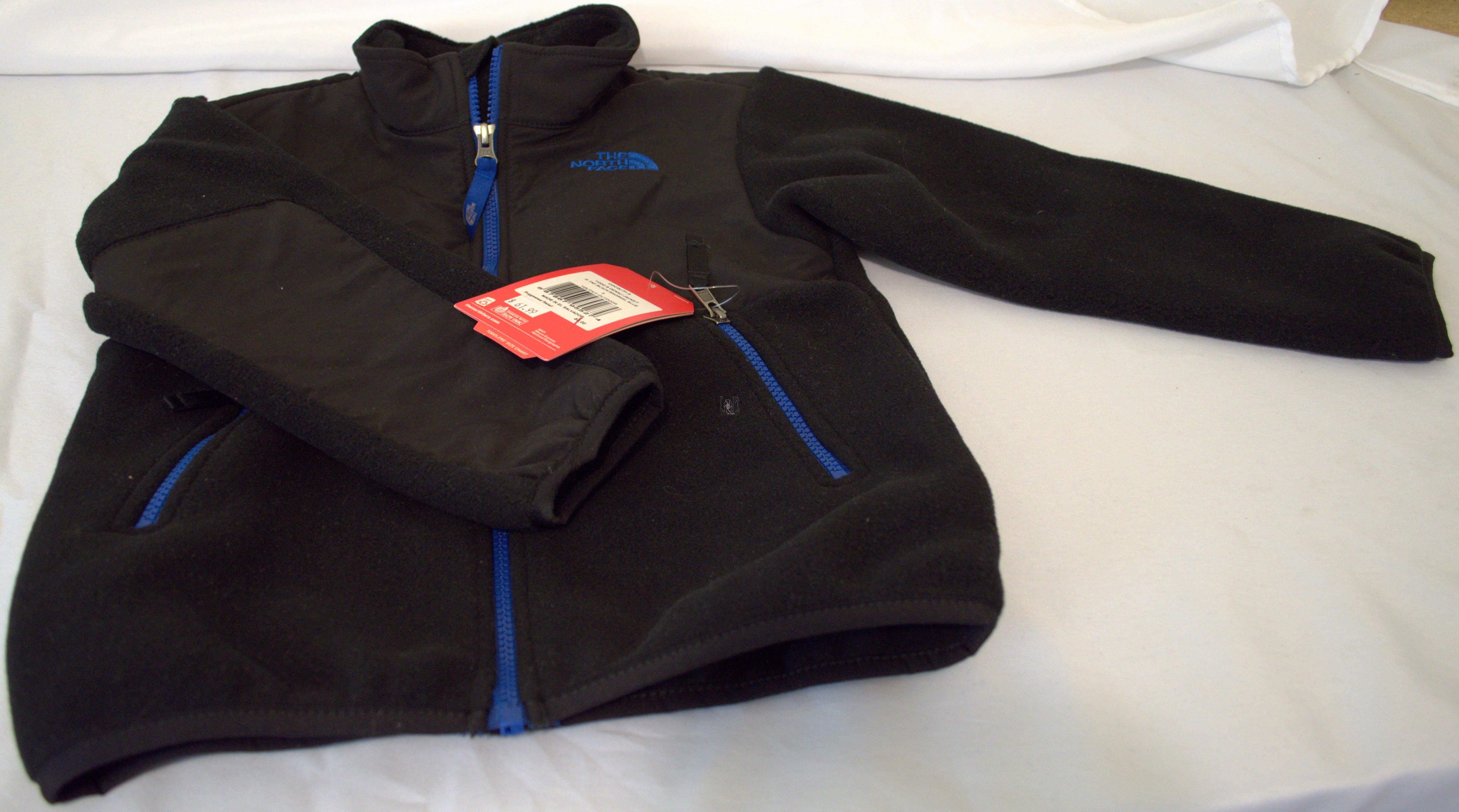 Toddler Boys Northface Denali Jacket Black/blue