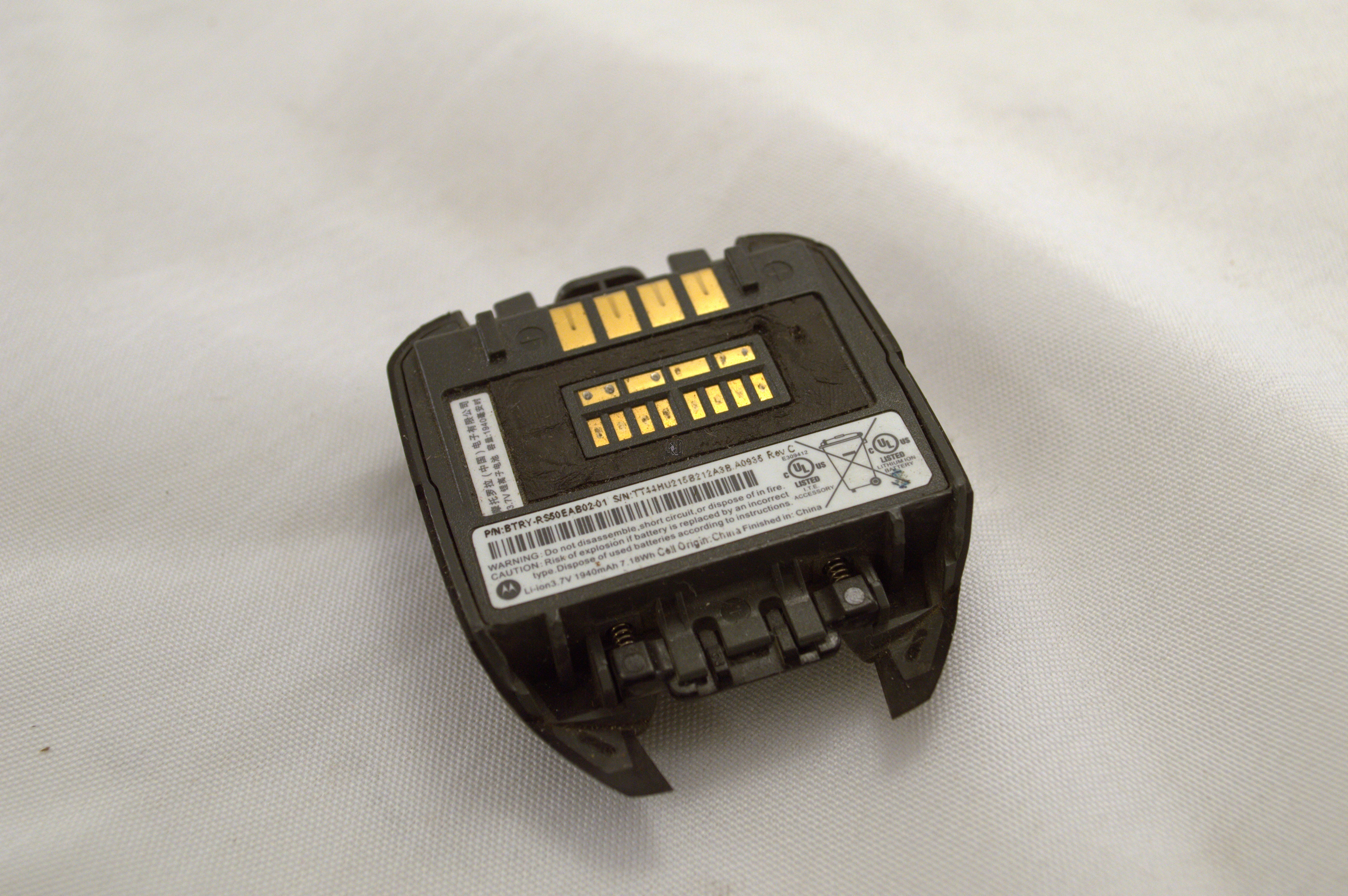 Used Motorola RS507 Battery btry-rs50eab02-01 1940mAh Scanner