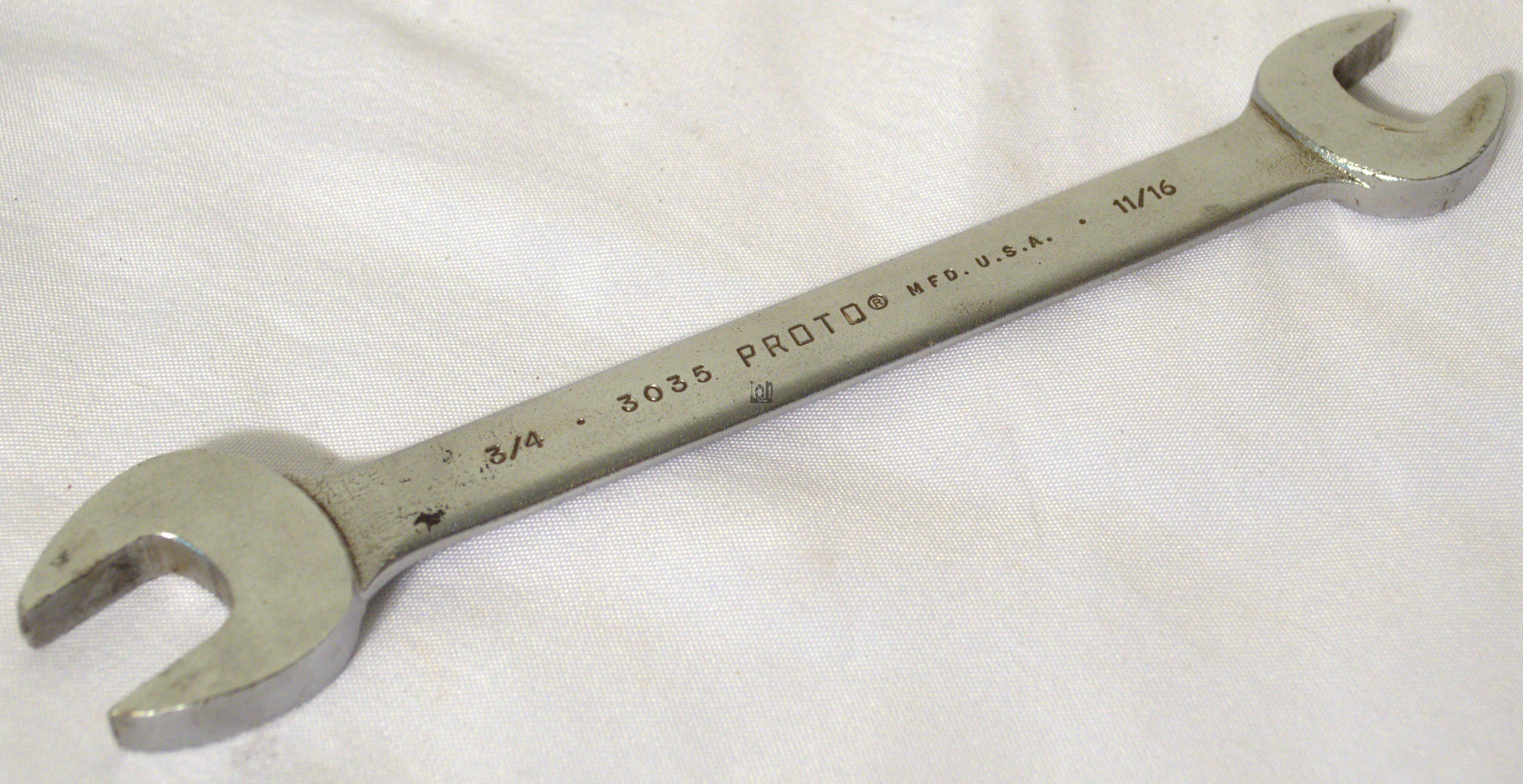 Used Proto Professional Wrench 3035 USA 3/4 x 11/16 SAE OPEN