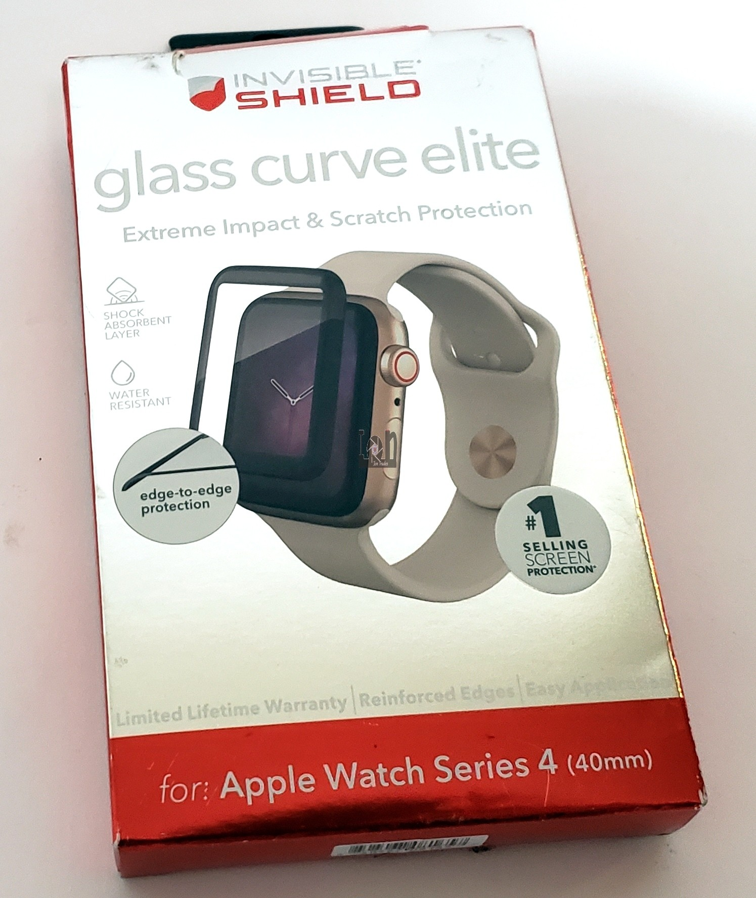 ZAGG InvisibleShield for Apple Watch Series 4 40mm Glass Curve Elite
