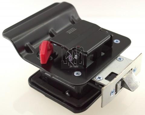 Black RV Paddle Entry Door Lock Latch Handle Knob