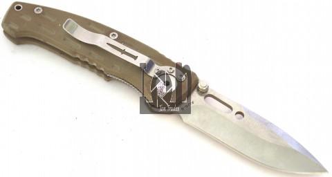 Camillus Hustle Knife Titanium AUS-8 Tan Folding Liner Lock