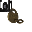3D Model Antique Brass Police Lock Steampunk 3D Scanned