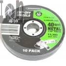 "10pk Cut Off Wheels 4-1/2"" 40 Grit Metal Blades 7/8"" Arbor for Angle Grinder"
