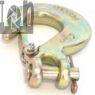 """1/4"""" G70 Clevis Hook Heavy Duty Steel Tow Chain Hook Zinc Plated"""