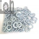 "25 Piece 9/16"" Lock Washers Zinc Plated Steel 0.573 Bore x 0.961"" O.D."