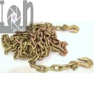 """2pc 5/16"""" 20ft Chains with Grab Hooks G70 Trailer Binder Chains Truck Trailer Towing"""