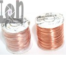 2PC lot of Arcor F16 Bare Copper Wire Spools 16 AWG Gauge 126' ea