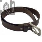 30  1 1 8 Brown Tanned Leather Belt Skinny Vintage Cowhide