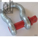 "3/4"" Galvanized Clevis Shackle WLL4-3/4T RED Hook Ring"
