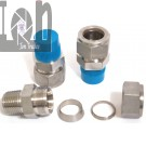 """3pc Lot Swagelok 316 Stainless Steel Fitting Adapter Connector 3/4"""" Tubing to 1/2"""" Male NPT"""