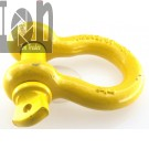 3pc Lot 4 Ton 34 D Ring Shackle Screw Pin Galvanized Shackle YELLOW