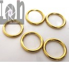"""40mm 1-5/8"""" Brass Ring Solid Leathercraft Craft Buckle Bag"""