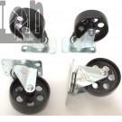 """4pc Lot All Steel Caster Wheels Swivel Casters 3.5"""" x 385lb"""