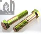 4pk Grade 8 Hex Bolts 58 -11 x 3 Zinc Plated Cap Screw