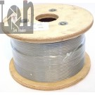 """5/32"""" Stainless Steel Wire Rope 500ft Spool 1x19 Polished 316 SS"""