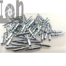 "58pc Cleco Fasteners 3/32"" Standard Spring Fastener SIlver"