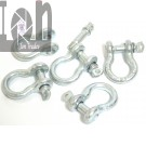 5pc Lot 14 D Shackles Screw Pin Galvanized Steel Clevis