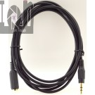 6ft 3.5mm Audio Cable Stereo Extension Cord Male Female