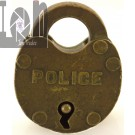Antique Brass Police Pad Lock Memorabilia with 3D Scanned Model