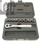 "CRAFTSMAN 10pc 6 point 3/8"" Dr Socket Set METRIC w/ Ratchet Socket Wrench Set & Case"