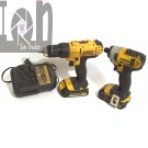 DeWALT 20V Max Power Tool Set Charger Drill and Impact Driver 2 Batts