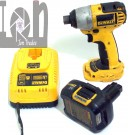 DeWALT DC825 Impact Driver and DC9181 18V Battery Lithium Ion 14 Cordless Tools