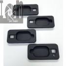 Door Handle Inserts for Hummer H2 SUV SUT Black Billet Aluminum 4pk