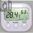 Digital LCD Thermometer Hygrometer Clock