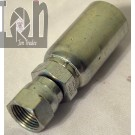 "Eaton 10U 608 1/2"" x 5/8"" Coll O Crimp Weatherhead Hyrdaulic Hose Fitting"