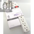 GE Power Strip 6-Outlet 8ft Cord 14832 15Amp 1800W