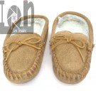 Genuine Leather Cowhide Moccasins Fits Ladies 6-7 Slippers