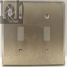 Gun Metal Double Light Switch Plate2 Toggle Wall Panel Amerelle 68TTGM