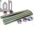 Hilti 4pc Anchor Bolts 1 x 12 Threaded Anchor Rods Concrete Masonry 385442