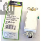 Leviton 5621-2W White Rocker Switch 20A 120/277AC Single Pole Decora