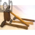 Lot Blacksmith Tools Tinsmith Hammers Small Anvil Dapping Block