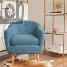 NEW BLUE Mid Century Accent Chair Modern Club Chair Office Lobby Chair