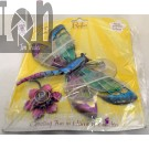 Painted Glass Sun Cather Dragonfly Regal Art Window Hanger