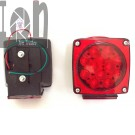 "Pair of LED Tail Lights for Trailer RV Boat Trailer Submersible 4.5"" Square"